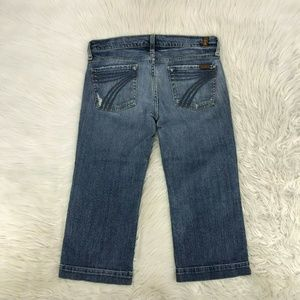 7 For All Mankind DOJO Crop Sz 30 X 21 inseam J19